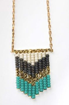 Necklace by Tiny Armour http://www.etsy.com/listing/79639130/turquoise-pop-chevron-necklace