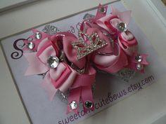 Princess Cinderella Hair Bow headband hair by SweetandCuteBows, $13.50