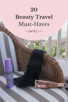 Best Skincare Products, Beauty Products, Black Makeup Brush Holder, Louis Vuitton Makeup Bag, Bare Minerals Concealer, La Mer Moisturizing Cream, Travel Size Makeup, The Sweetest Thing Blog, Travel Must Haves