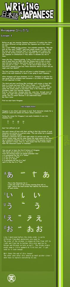 Writing Japanese- Lesson 1 by emm2341 on DeviantArt