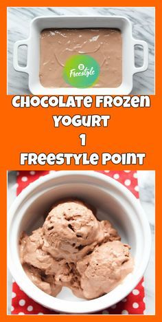 Chocolate Frozen Yogurt – 1 Freestyle Point | weight watchers recipes