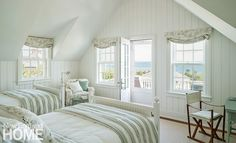 Nantucket shingle style guest bedroom