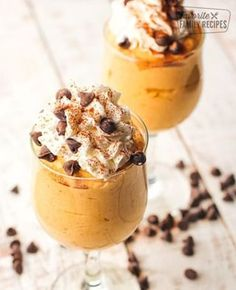 Pumpkin Cheesecake Mousse Cups are the perfect dessert for fall dinner parties and company. I love that it has all the delicious autumn flavors of a piece of pumpkin cheesecake but isn't nearly as heavy. Cheesecake Mousse Recipe, Pumpkin Cheesecake, Cheesecake Bars, Cheesecake Recipes, Fall Desserts, Delicious Desserts, Yummy Food, Pumpkin Recipes, Fall Recipes