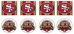 San Francisco 49ers Free Cupcake Topper Printable | Mamelah's Marvelous Desserts Family Reunion Invitations, Surprise Birthday Invitations, Holiday Invitations, Birthday Cakes, Birthday Ideas, 49ers Birthday Party, 49ers Cake, Wedding Invitation Format, Fondant Cupcake Toppers