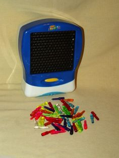 LITE BRITE MINI FLAT SCREEN TRAVEL BATTERY OP WITH PEGS ONLY LOOSE 2003 HASBRO #Hasbro