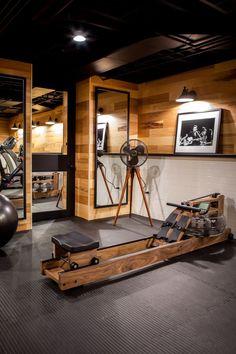 Setup Gym Ideas on Small Home - Basement Gym Design - Home Gym Home Gym Basement, Gym Room At Home, Workout Room Home, Basement Remodeling, Basement Ideas, Basement Storage, Garage Ideas, Home Gyms, Dark Basement