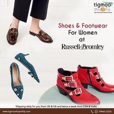 Browse online huge collection of branded #shoes & #footwear for women's at #Russellandbromley.  to make order online click here: http://www.russellandbromley.co.uk/womens/icat/womens & Ship your parcel with Tigmoo ShopNship http://www.tigmooshopnship.com/