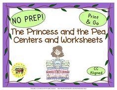 38 Princess and The Pea Print and Go printables.