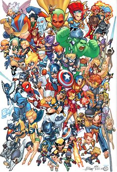 A great assortment of Avengers in cutie kiddie form.