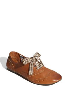 Nordy's BP Oxford's, plaid with the vintage leather look is... interesting, but good