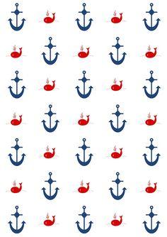 Free digital nautical scrapbooking papers - ausdruckbares Geschenkpapier - freebie | MeinLilaPark – DIY printables and downloads