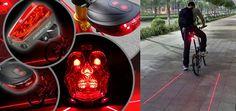fahrradlaser rücklicht fahrradweg led