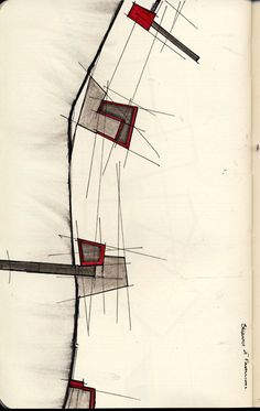 Architectural color sketches