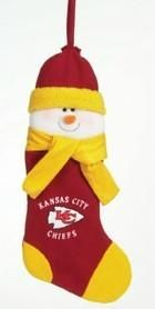 "Kansas City Chiefs 22"" Snowman Stocking"