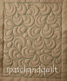 Many quilting design examples