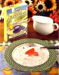 Pocono Buckwheat Products - Cream of Buckwheat cereal - make with water or your allowed milk sub for a creamier texture, then add your favorite ingredients, or just eat plain.