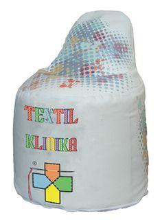 Babzsák textilklinika logóval