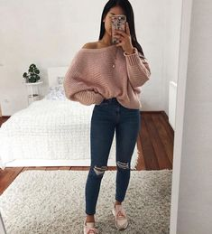 teenager outfits for school ; teenager outfits for school cute Cute Comfy Outfits, Cute Fall Outfits, Stylish Outfits, Simple Outfits, Spring Outfits, Cute Jean Outfits, Fall Outfit Ideas, Casual Outfits For Winter, Classy Outfits