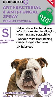 GNC Pets Medicated Anti-Bacterial and Anti-Fungal Spray - Lavender Scent 12 fl.oz. -- Special  product just for you. See it now! (This is an amazon affiliate link. I may earn commission from it)