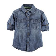 Carter's Short Sleeve Button-Front Shirt Boys - JCPenney