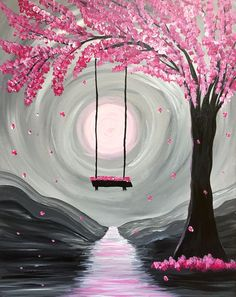 Paint Nite - Whimsical Spring Blossoms