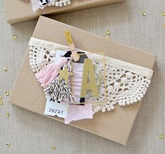 Garland Gift Wrap :: Rebecca Luminarias - Crate Paper