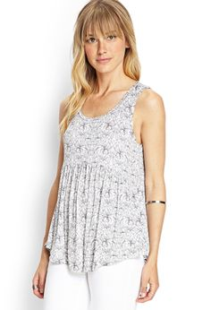 Floral Jersey Tank Top | FOREVER21 #F21Contemporary