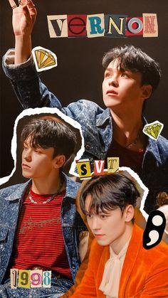Going Seventeen, Vernon Seventeen, Seventeen Album, Seventeen Memes, Jeonghan Seventeen, Seventeen Lyrics, Woozi, Wonwoo, Seungkwan