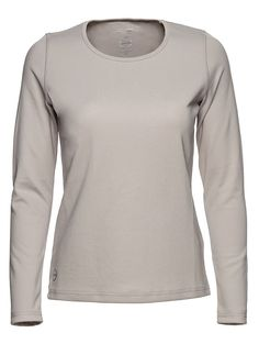 Base L/S #Tee Pearl Long sleeves. Quick dry jersey. Feminine fit. Straight hem. Regular fit. #Exercise #Workout