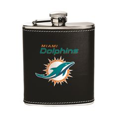 Miami Dolphins Flask - Stainless Steel