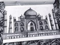Taj mahal, drawing, monument of love, pyaar,ishq