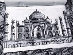 Taj mahal, drawing, monument of love, pyaar,ishq