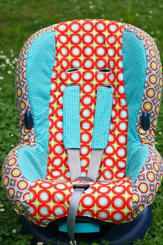 If you have an old car seat you can't stand the looks of, sort of like this one: ... and you dearly want a different cover but oh, if you buy them, they are so expensive! Especially the original covers...