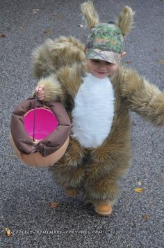 Our son eats his cheerios like a squirrel so it was clear he needed a squirrel costume. He got awesome responses and was even featured in the newspaper!