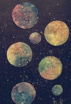 #stars #moon #art #space