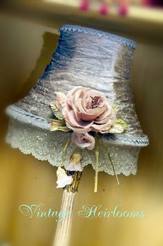 Beautiful handmade shabby chic style lampshade by bespokeheirlooms, $280.00