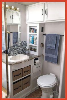 Small rv with bathroom attractive small bathroom toilet remodel ideas small rv bathroom storage ideas Camper Bathroom, Bathroom Storage, Small Bathroom, Bathroom Ideas, Shower Ideas, Modern Bathroom, Minimalist Bathroom, Cream Bathroom, Shared Bathroom