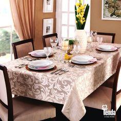 ൬oɗɑ lɑɾ  O bom gosto está na mesa. Agora, é só chamar a família e os amigos pra curtir o look charmoso da sala de jantar. #Tenda
