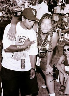 Easy E & Queen Latifah (rare photo)