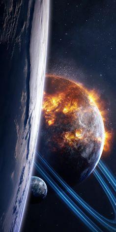 Outer Space Wallpaper, Ps Wallpaper, Wallpaper Earth, Planets Wallpaper, Galaxy Wallpaper, Astronaut Wallpaper, Space Artwork, Space Planets, Universe Art