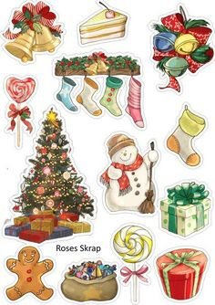 VK is the largest European social network with more than 100 million active users. Planner Stickers, Journal Stickers, Printable Stickers, Cute Stickers, Christmas Drawing, Christmas Art, Christmas Decorations, Christmas Ornaments, Christmas Stickers