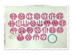 Small Mini Thin Circle Monogram  Machine by RivermillEmbroidery, $2.95
