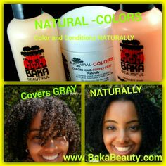 Natural Colors 4 Gray henna-based. Colors Conditions Naturally Www.bakabeauty.com