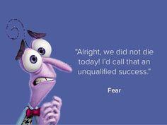 Sad Disney Quotes, Beautiful Disney Quotes, Pixar Quotes, Fear Inside Out, Movie Inside Out, Disney Inside Out, Dinosaur Quotes, Bujo, Outing Quotes