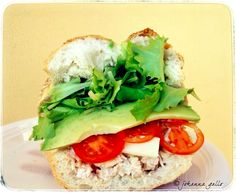 An all-time favorite chicken salad sandwich with avocado :-)