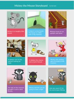 The Story Of Mickey The Mouse Via A Storyboard Click The Image To