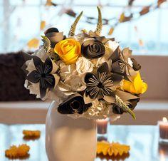HOME DZINE Craft Ideas | Origami paper flower bouquet
