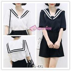 S-4XL 3 Colors Summer Oversized Sailor Tee Shirt SP152514 – SpreePicky