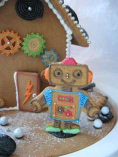 Gingerbread robot