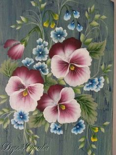 One- Stroke Painting on Pinterest